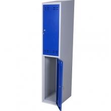 Klädskåp, blå/grå 2 dörr 1920x350x550