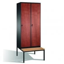Skåp,2x400 MDF dörrar, med bänk 2090x810x815
