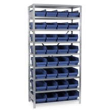 Box shelf 2100X1000X400, 32 boxes 400x240x150