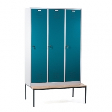 3 door locker with bench 1200x810x2090