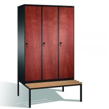 Skåp,3x400 MDF dörrar, med bänk 2090x1200x815