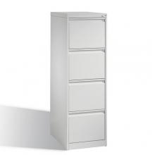 Arkivskåp, med 4 lådor, 1357x433x590mm, RAL7035