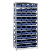 Box shelf 2100X1000X400, 40 boxes 400x240x150
