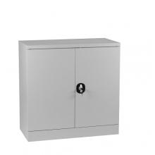 Dokumentskåp, 2 hyllor 900x900x450, grå, hopfällbar