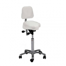 Global CL Gamma saddle stool with backrest