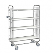 Flexibel hyllvagn 4 plan 1195x470x1590mm, 250kg
