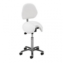Global CL Jolly saddle stool with backrest