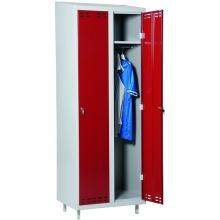 Röd/Grå, klädskåp 2dörr 1920x700x550