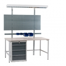 Packing table set 2000x800, laminated  top