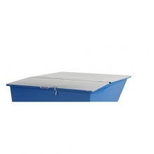Flat lid for tipping container 300 l, grey