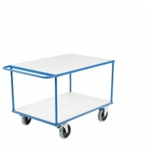 Shelf trolley 2 shelves 1350x800x875mm, 500kg