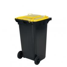 Avfallskärl 240L, svart/gul