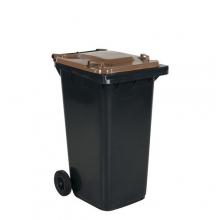Avfallskärl 240L, svart/brun