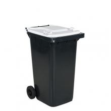 Avfallskärl 240L, svart/vit