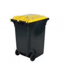 Avfallskärl 360L, svart/gul