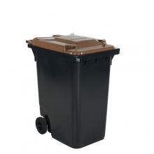 Avfallskärl 360L, svart/brun