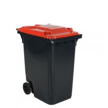 Avfallskärl 360L, svart/röd
