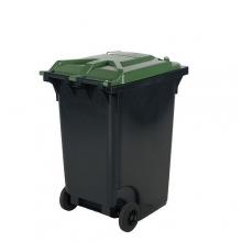 Avfallskärl 360L, svart/grön