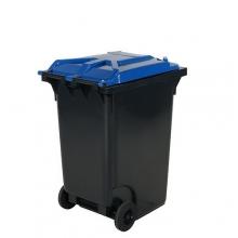 Avfallskärl 360L, svart/blå
