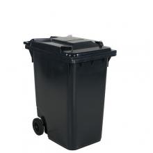 Avfallskärl 360L, svart/mörkgrå