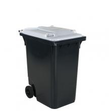 Avfallskärl 360L, svart/vit