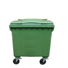 Avfallskärl 1100L, grön