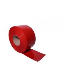 PVC plastridå röd 2x200mm/meter