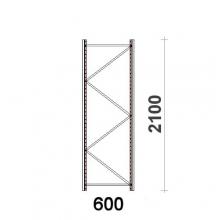 Hyllgavel 2100x600 mm MAXI