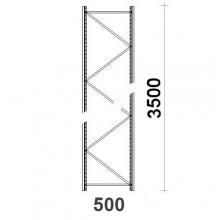 Hyllgavel 3500x500 mm MAXI