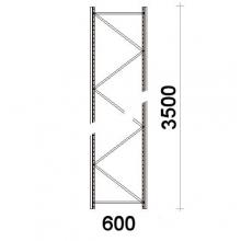 Hyllgavel 3500x600 mm MAXI