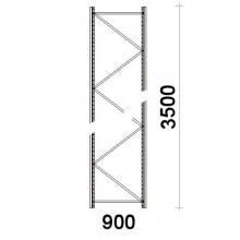 Hyllgavel 3500x900 mm MAXI