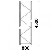 Hyllgavel 4500x800 mm MAXI