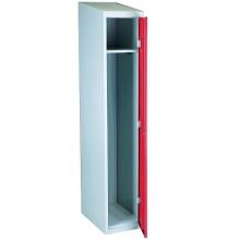 Röd/Grå klädskåp, 1dörr 1920x350x550