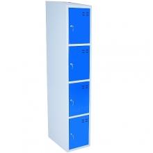 Förvaringsskåp, blå/grå 4-fack 1920x350x550
