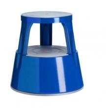 Stegpallar, metal, blå