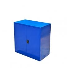 Verkstadsskåp, 2 hyllor, 900x800x400, blå, hopfällbar