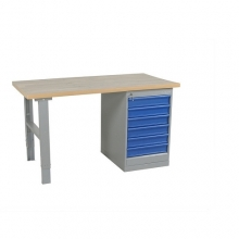 Worktable w. drawer un. 6 draw. 1600x800 mm, Vinyl