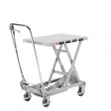 Lyftbordsvagn aluminium, 100kg, 450x700mm