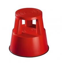 Stegpall, plast, röd