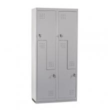 Z-locker, 4 doors 1820x800x450, RAL7035 Knocked Down