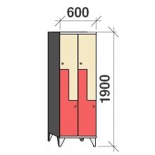 Z-locker 1900x600x545,4 doors