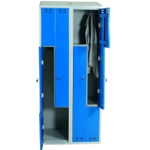 Clothing cabinet, blue/grey 4 d/Z-model 1920x800x550