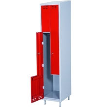 Clothing cabinet, red/grey 2 d/Z-modell 1920x400x550